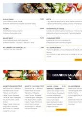 Menu Beyrit's - Les grillades, grandes assiettes et salades