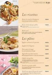 Menu Bistro Romain - Les risottos et pâtes