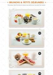 Menu Brunch me up' - Les brunchs et petits déjeuners