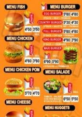 Menu Chicken boubou - Les menus