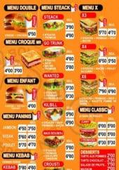 Menu Chicken boubou - Les menus suite