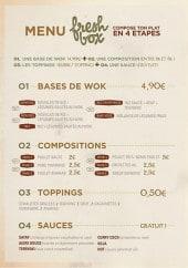 Menu Fresh Box - Les menus
