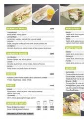 Menu L' Aixtra - Les sandwiches, wraps...