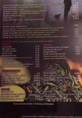Menu La case créole - Les entrées, viandes,...