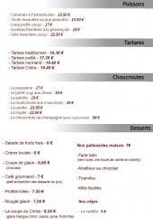Menu Le cintra - Les poissons, tartares,...