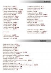 Menu Le cintra - Les entrées, viandes et sauces