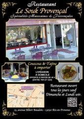 Menu Le souk provençal - Carte et menu le souk provençal aix en provence