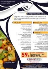 Menu Les saveurs de simy - Les salades, poissons,...