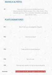 Menu Li palace - Les raviolis, pâtes et plats signatures