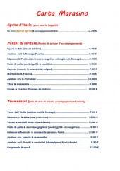 Menu Marasino - Le spritz d'Italie, panini, verdure et tramezzini