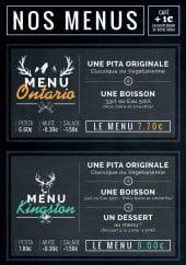 Menu Pita pit - Les menus