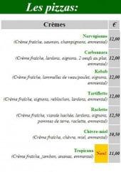 Menu Pizza Express - Les pizzas cremes, calzone et menu midi