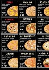 Menu Pizza time's - Les pizzas suite