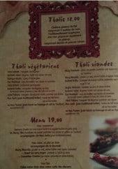 Menu Rajasthan - Thalis et menu 19 euro