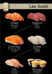 Menu Yojisu - Les sushis
