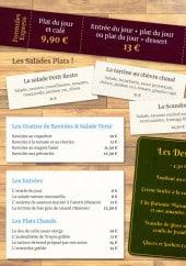 Menu Au Petit Resto - Plats du jour, salades, desserts,...