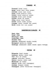 Menu La Mandibule - Paninis, sandwiches chauds et pâtes