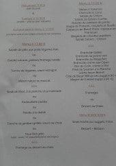 Menu Le bistrot du roubian - Les menus