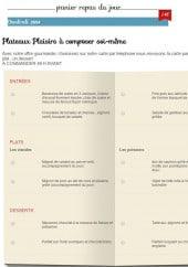 Menu Benoit Blanc - Repas du jour et plateaux