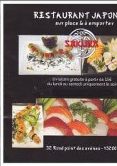 Menu Sakura - Carte et menu sakura arles