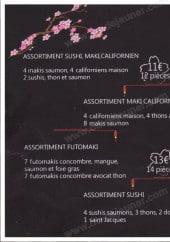 Menu Sakura - A la carte