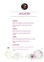 Menu Carpe Diem - Les salades