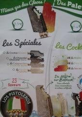 Menu Snack l'escale - Les glaces