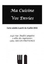 Menu Ma cuisine vos envies - Carte et menu ma cuisine vos envies les milles