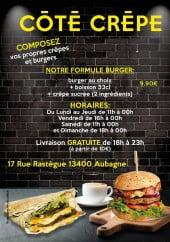 Menu Côté crêpe - Carte et menu Côté crêpe Aubagne