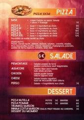 Menu Fratelli - Pizzas, salades et desserts