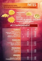 Menu Fratelli - Pâtes et accompagnements