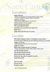 Menu L'Air Du Temps - Les entrées et plats