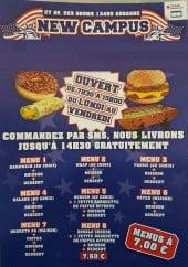 Menu New Campus - Carte et menu New Campus Aubagne
