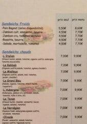 Menu O'régal snack - Les sandwiches et paninis