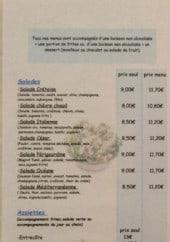 Menu O'régal snack - Les salades et assiettes