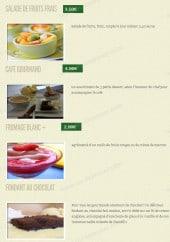 Menu Regalo - Les desserts
