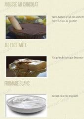 Menu Regalo - Les desserts suite