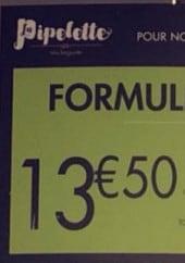 Menu Le Fournil - formule assiette