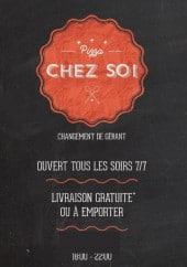 Menu Pizza Chez Soi - carte et menu Pizza Chez Soi  Senas