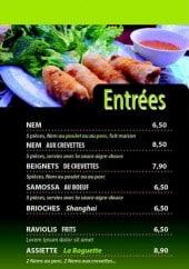 Menu La baguettte impériale III - Les entrées et salades