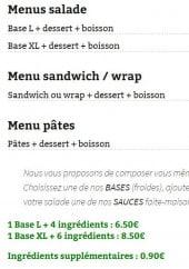 Menu O'CroqVert - Les menus