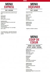 Menu Hippopotamus - Les menus