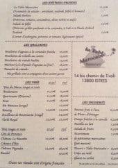 la table marocaine à istres, carte-menu et photos