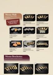 Menu Fujiya Sushi - Menus midi et brochettes