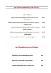 Menu La Plazza - Les salades et pâtes