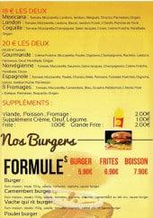 Menu Pizz'burger - Les formules