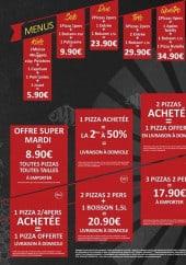 Menu Pizza Family - Les menus