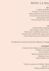 Menu Restaurant de la Marée - MENU LA MARÉE À 28 EUROS