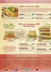 Menu La Mangoune - Les tartas et les burgers