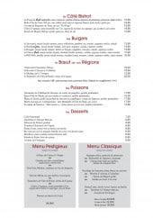 Menu Chez paul - Les burgers, poissons, desserts,...